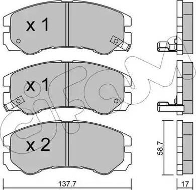 Cifam 822-357-0 - Piduriklotsi komplekt,ketaspidur multiparts.ee