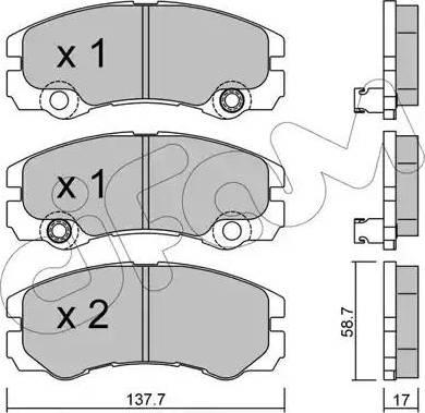 Cifam 822-357-1 - Piduriklotsi komplekt,ketaspidur multiparts.ee