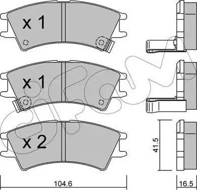 Cifam 822-361-0 - Piduriklotsi komplekt,ketaspidur multiparts.ee