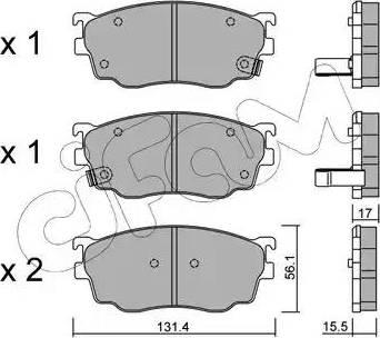 Cifam 822-301-0 - Piduriklotsi komplekt,ketaspidur multiparts.ee