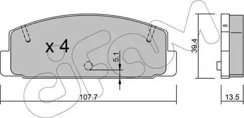 Cifam 822-302-0 - Piduriklotsi komplekt,ketaspidur multiparts.ee