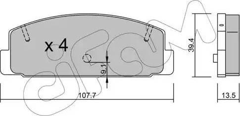 Cifam 822-302-1 - Piduriklotsi komplekt,ketaspidur multiparts.ee