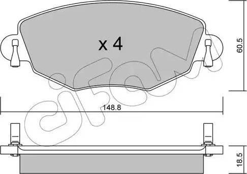 Cifam 822-318-0 - Piduriklotsi komplekt,ketaspidur multiparts.ee