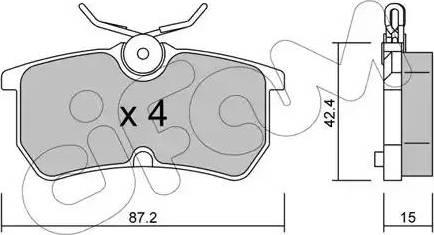 Cifam 822-317-0 - Piduriklotsi komplekt,ketaspidur multiparts.ee