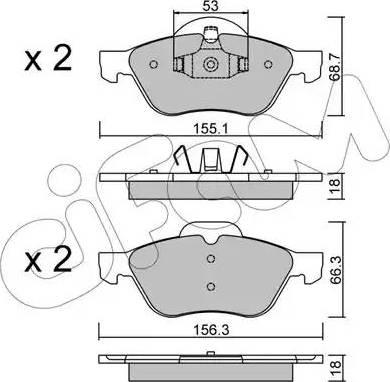 Cifam 822-335-0 - Piduriklotsi komplekt,ketaspidur multiparts.ee