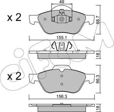 Cifam 822-335-1 - Piduriklotsi komplekt,ketaspidur multiparts.ee
