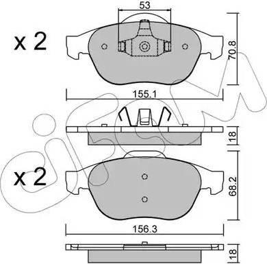 Cifam 822-336-0 - Piduriklotsi komplekt,ketaspidur multiparts.ee