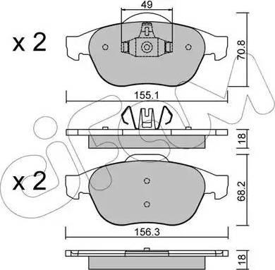 Cifam 822-336-2 - Piduriklotsi komplekt,ketaspidur multiparts.ee