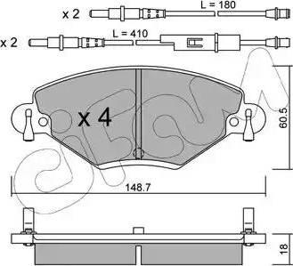 Cifam 822-331-0 - Piduriklotsi komplekt,ketaspidur multiparts.ee