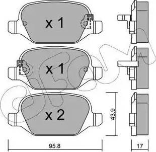 Cifam 822-324-4 - Piduriklotsi komplekt,ketaspidur multiparts.ee