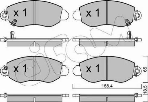 Cifam 822-320-0 - Piduriklotsi komplekt,ketaspidur multiparts.ee