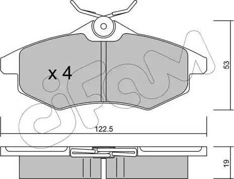 Cifam 822-328-0 - Piduriklotsi komplekt,ketaspidur multiparts.ee
