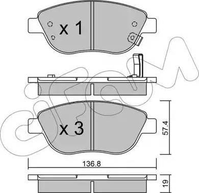 Cifam 822-322-2 - Piduriklotsi komplekt,ketaspidur multiparts.ee