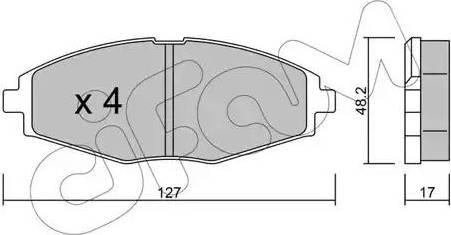Cifam 822-293-0 - Piduriklotsi komplekt,ketaspidur multiparts.ee