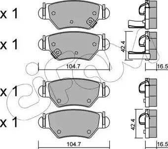 Cifam 822-259-0 - Piduriklotsi komplekt,ketaspidur multiparts.ee