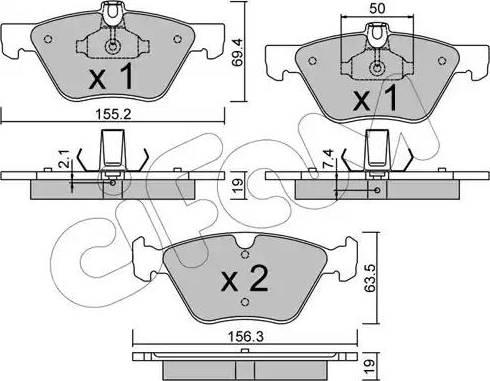 Cifam 822-252-1 - Piduriklotsi komplekt,ketaspidur multiparts.ee