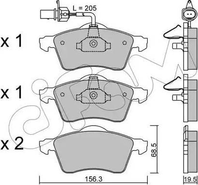 Cifam 822-263-1 - Piduriklotsi komplekt,ketaspidur multiparts.ee