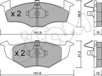 Cifam 822-206-2 - Piduriklotsi komplekt,ketaspidur multiparts.ee
