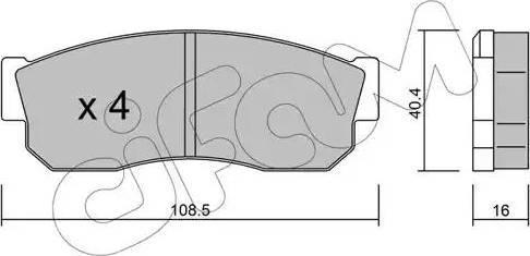 Cifam 822-202-1 - Piduriklotsi komplekt,ketaspidur multiparts.ee