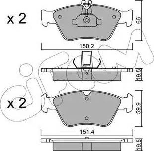 Cifam 822-219-0 - Piduriklotsi komplekt,ketaspidur multiparts.ee