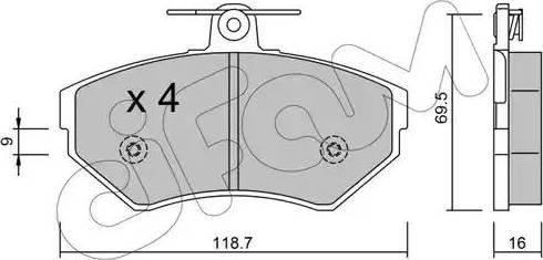 Cifam 822-215-1 - Piduriklotsi komplekt,ketaspidur multiparts.ee
