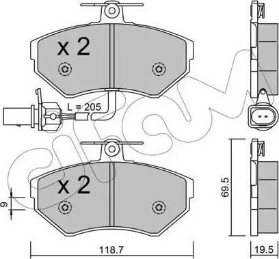 Cifam 822-215-2 - Piduriklotsi komplekt,ketaspidur multiparts.ee