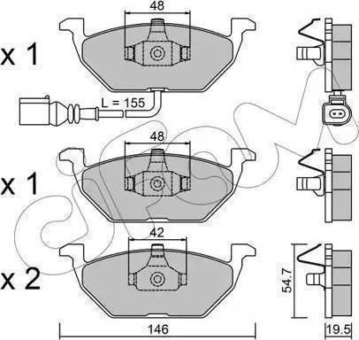 Cifam 822-211-2 - Piduriklotsi komplekt,ketaspidur multiparts.ee