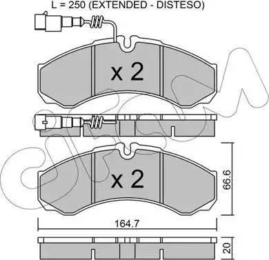 Cifam 822-212-9 - Piduriklotsi komplekt,ketaspidur multiparts.ee