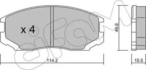 Cifam 822-221-0 - Piduriklotsi komplekt,ketaspidur multiparts.ee