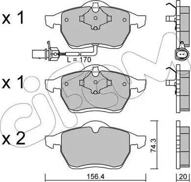 Cifam 822-279-1 - Piduriklotsi komplekt,ketaspidur multiparts.ee