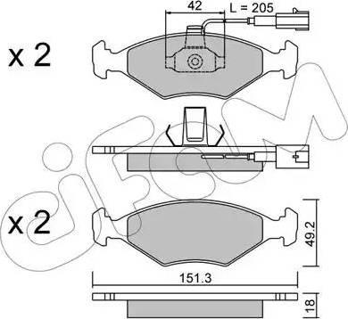 Cifam 822-273-1 - Piduriklotsi komplekt,ketaspidur multiparts.ee