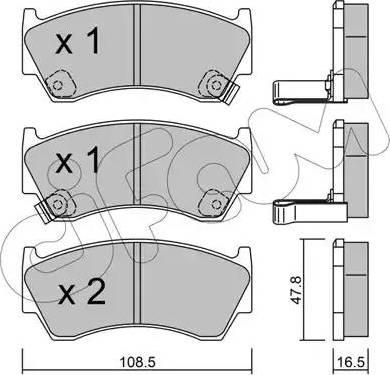 Cifam 822-277-0 - Piduriklotsi komplekt,ketaspidur multiparts.ee