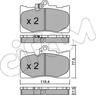 Cifam 822-799-0 - Piduriklotsi komplekt,ketaspidur multiparts.ee