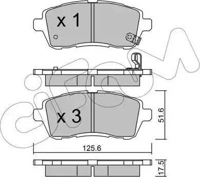 Cifam 822-793-0 - Piduriklotsi komplekt,ketaspidur multiparts.ee
