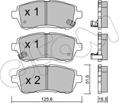 Cifam 822-793-1 - Piduriklotsi komplekt,ketaspidur multiparts.ee
