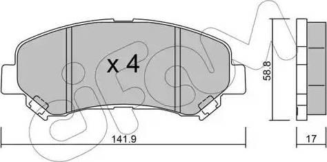 Cifam 822-792-0 - Piduriklotsi komplekt,ketaspidur multiparts.ee