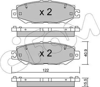 Cifam 822-759-1 - Piduriklotsi komplekt,ketaspidur multiparts.ee
