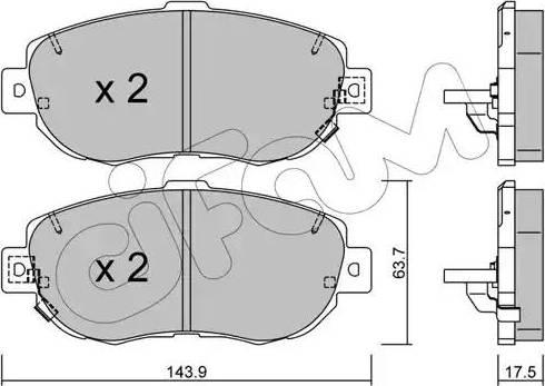 Cifam 822-756-0 - Piduriklotsi komplekt,ketaspidur multiparts.ee