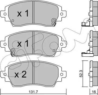 Cifam 822-750-0 - Piduriklotsi komplekt,ketaspidur multiparts.ee