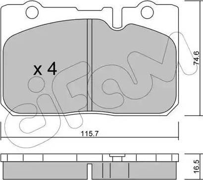 Cifam 822-757-0 - Piduriklotsi komplekt,ketaspidur multiparts.ee