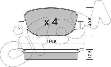 Cifam 822-704-0 - Piduriklotsi komplekt,ketaspidur multiparts.ee