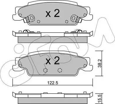 Cifam 822-700-0 - Piduriklotsi komplekt,ketaspidur multiparts.ee