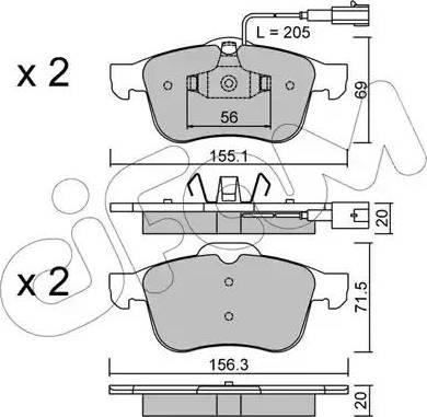 Cifam 822-703-0 - Piduriklotsi komplekt,ketaspidur multiparts.ee