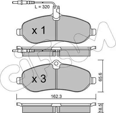 Cifam 822-707-0 - Piduriklotsi komplekt,ketaspidur multiparts.ee