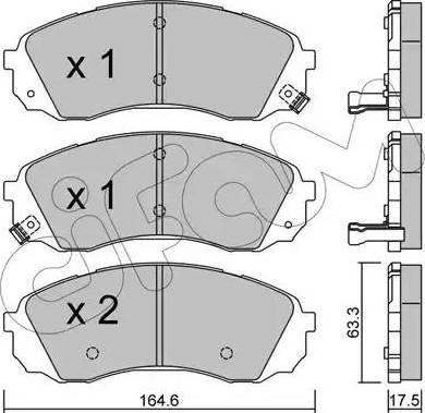 Cifam 822-785-0 - Piduriklotsi komplekt,ketaspidur multiparts.ee