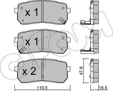 Cifam 822-786-0 - Piduriklotsi komplekt,ketaspidur multiparts.ee