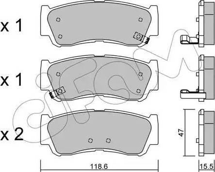 Cifam 822-788-0 - Piduriklotsi komplekt,ketaspidur multiparts.ee