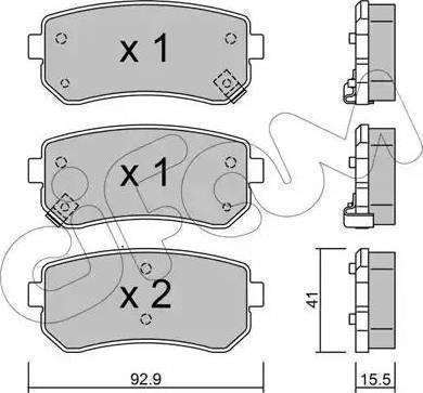 Cifam 822-725-0 - Piduriklotsi komplekt,ketaspidur multiparts.ee