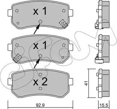 Cifam 822-725-1 - Piduriklotsi komplekt,ketaspidur multiparts.ee