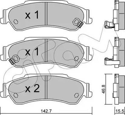 Cifam 822-722-0 - Piduriklotsi komplekt,ketaspidur multiparts.ee
